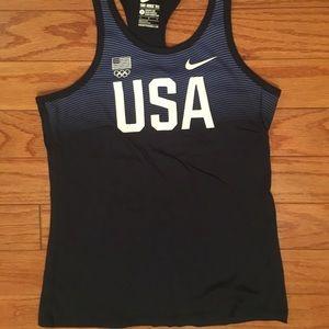 Girls USA youth large navy Nike tank top